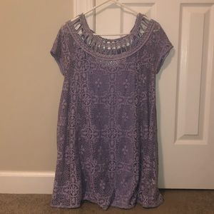 Free People Lavender Lace Dress